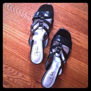 Strappy Black Dress Sandals